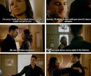 Bonnie, the vampire diaries, and enzo image