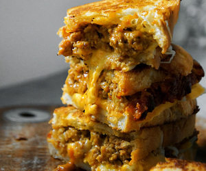 food, grilled cheese, and meatloaf image