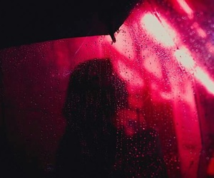red, photography, and rain image