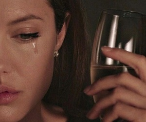 Angelina Jolie, sad, and cry image