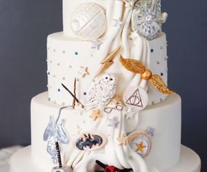 cake, harry potter, and star wars image
