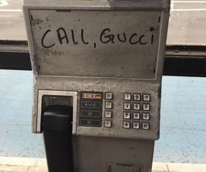telephone and call gucci image