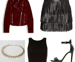 clothes, leather, and outfit image