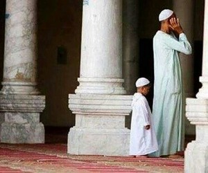 muslim, prayer, and son image