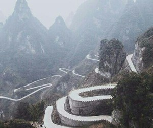 china, travel, and tianmen mountain image
