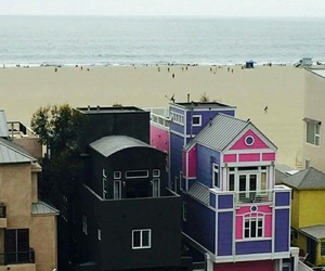 black, beach, and house image