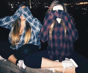 girls, friends, and grunge image