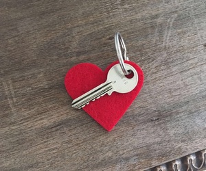 heart, key, and liebe image