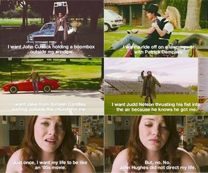 easy a, emma stone, and 80s image