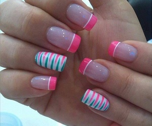 nails, manicure, and moda image