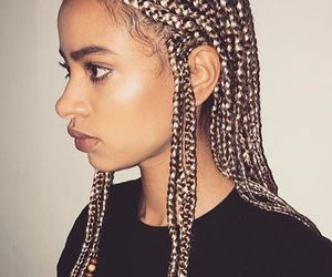 african american, braids, and black image
