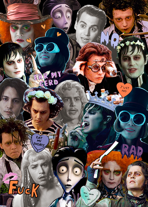 requested johnny depp + tim burton characters