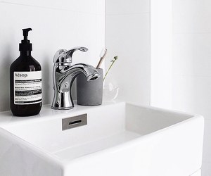 white, bathroom, and interior image