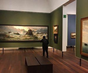 Malaga, museum, and painting image