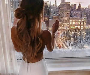 beautiful, city, and hair image