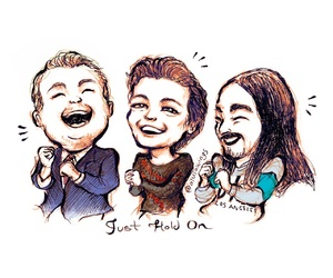 steve aoki, the late late show, and louis tomlinson image