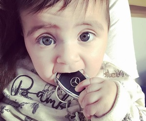 baby, blue eyes, and mercedes image