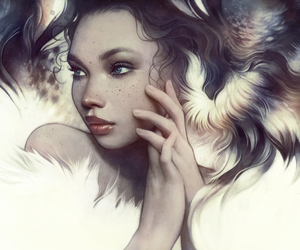 amazing, blue eyes, and digital art image