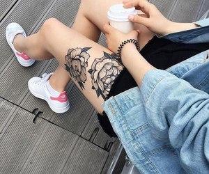 tattoo, girl, and adidas image