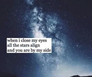 quote, night, and sky image
