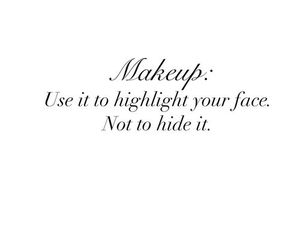 quotes, makeup, and highlight image