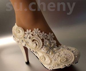 ebay, heels, and bridal shoes image