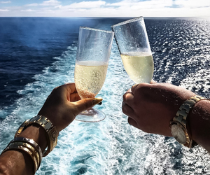 champagne, luxury, and summer image