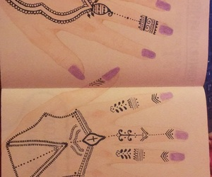 buch, drawing, and hands image