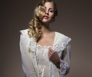 bride, robe, and lace image