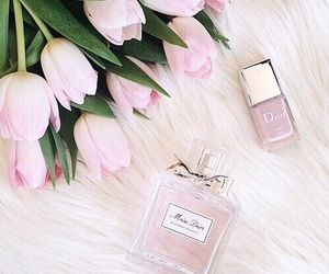 pink, flowers, and dior image