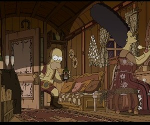homer, simpsons, and old image