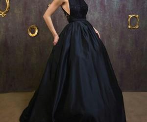 dress, grown, and long dress image