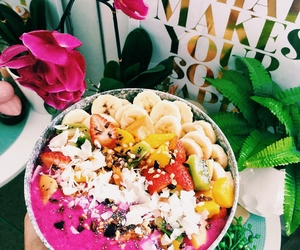 food, tropical, and flowers image