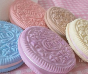 oreo, food, and pastel image