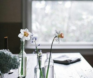 flower, sad, and table image