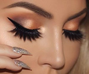 beauty, make up, and eye liner image