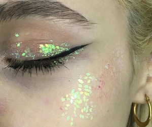 makeup, glitter, and grunge image