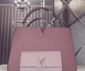 bag, blush, and LV image