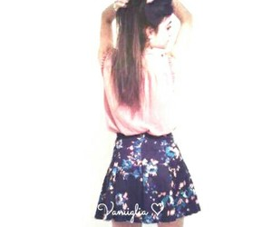 flowers, skirt, and style image