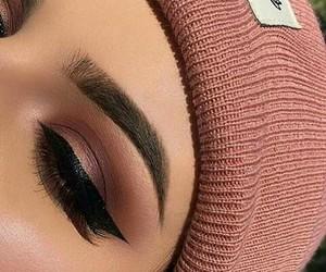beauty, eyebrow, and eye image