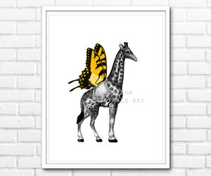 art, butterfly, and print image