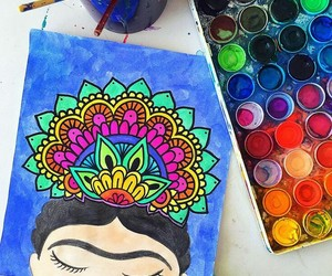 colors and Frida Khalo image