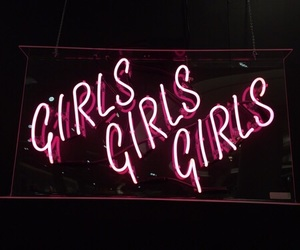 girl, pink, and neon image