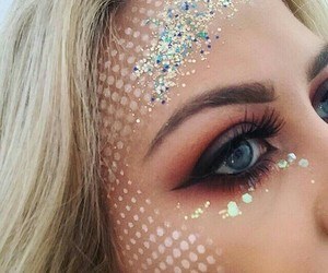 makeup, mermaid, and beauty image