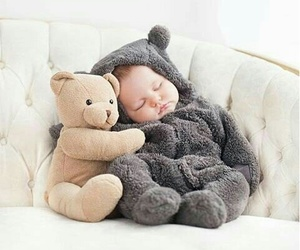 baby, adorable, and sleep image
