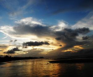 beach, dusk, and twilight image