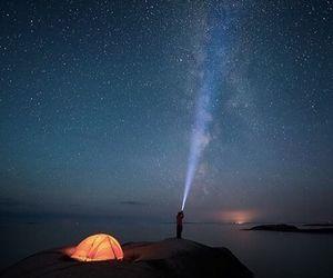 stars, sky, and camp image