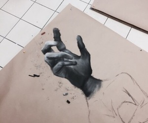 art, charcoal, and sketching image