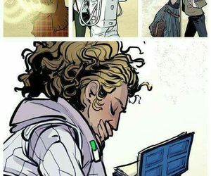 doctor who, river song, and eleventh doctor image