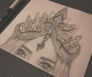 art, drawing, and crown image